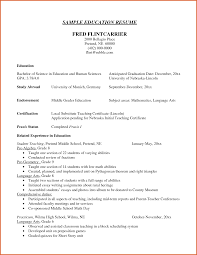 Resume Sample Education Section by Resume Examples Education Section Augustais