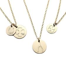 custom charm necklace custom charm disc necklace the smith
