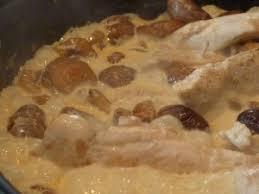 idee recette cuisine recette aiguillettes de poulet aux marrons la cuisine de martine