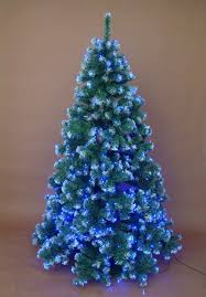 white christmas tree with blue led lights u2013 happy holidays