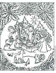 christmas nativity scene coloring pages manger page printable free