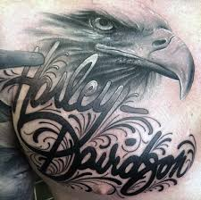 eagle tattoo clipart 90 harley davidson tattoos for men manly motorcycle designs