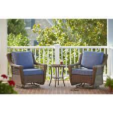 Rocking Chair Ghost Hampton Bay Spring Haven Brown 3 Piece All Weather Patio Chat Set