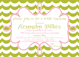 bridesmaid luncheon invitation wording handmade simple blue stripe bridal shower invitation wording for