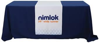 trade show table runner 24in custom printed table runner nimlok online