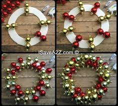 how to make an ornament wreath isavea2z