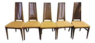 Lane Furniture Dining Room Lane Mid Century Cane Danish Chairs Set Of 5 Chairish