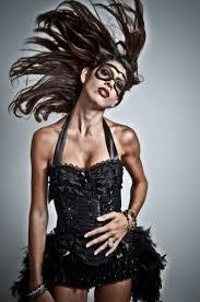 Halloween Corset Costumes Black Swan Burlesque Corset Costume Steampunk Circus