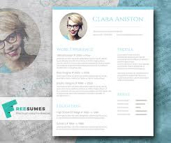 simple snapshot u2013 the freebie photo resume template