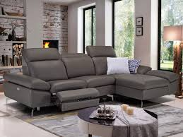 canapé d angle cuir de buffle canapé d angle relax electrique cuir avec têtières marsala