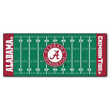 Football Field Area Rug Fanmats Of Alabama 2 Ft 6 In X 6 Ft Football Field