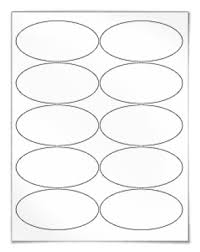 oval labels for laser and inkjet printing