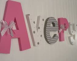 Letter Decorations For Nursery Creative Design Wall Hanging Letters Also Nursery Baby Pink