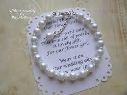 communion jewelry pearl flower girl bracelet pearl bracelet flower girl gift