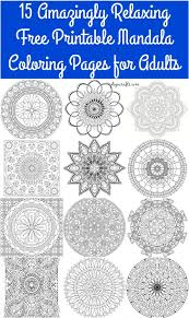 15 amazingly relaxing free printable mandala coloring pages