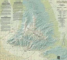 mt lemmon hiking trails map arizona recreational guides santa mountains sky island
