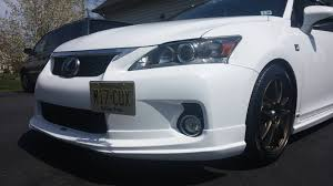 lexus ct200h body kit gominigo u0027no holes u0027 license plate bracket kit on my 2013 f sport