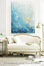 Modern Art Home Decor Custom For Dana Original Art Modern Blue Abstract Painting Navy