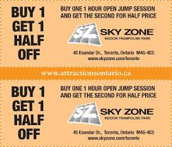 enjoy up to 41 with sky zone coupon codes 2016 or promo code