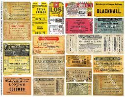 ticket stub album ticket stubs printed sheet railroad ticket transportation