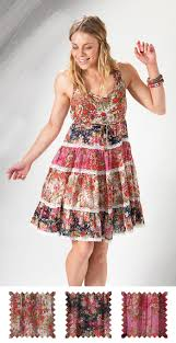 hippy dress bohemian floral chanda print dress fair trade by folio