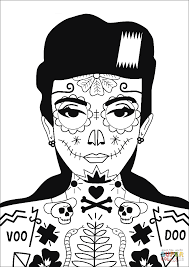 voodoo coloring page free printable coloring pages
