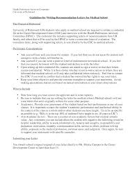guidelines for writing a letter of recommendation medical