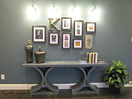 awesome model home wall decor with frame picture on gray paint and