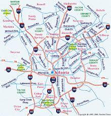 map of atlanta metro area metro atlanta map