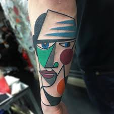 colorful cubist tattoos inked by mike boyd tattoo ink tattoo