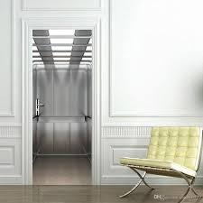 Self Adhesive Wallpaper by The Elevator Door Stickers 3d Pvc Self Adhesive Wallpaper