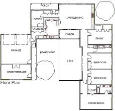 Sips Floor Plans Privacy Court House Plan U Shaped Plan To Create Defined Outdoor