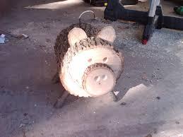 log pig wood slice animal we re crafty logs