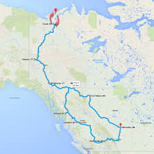 Map Of Yukon From The Expo Vault To The End Of The Earth In A Bmw M Coupe