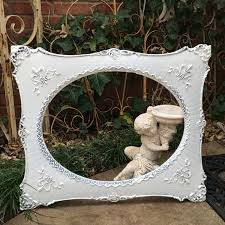 oval frame stunning antique shabby chic ornate painted white
