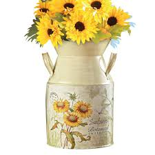 buy country style sunflowers milk canister at gg outlet for only 6 99