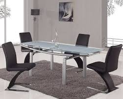 modern furniture chicago glass dining table with extensions