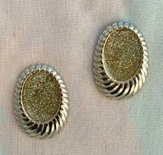 post style earrings green glitter post style earrings vintage jewelry s