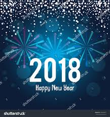 happy new year post card happy new year 2018 postcard stock vector 750590407