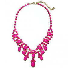 necklace with pink stone images Pink stone cluster statement bib necklace jpg