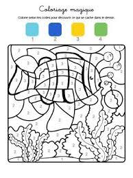 Coloriage magique dun animal marin à imprimer