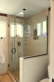 half glass shower door best shower