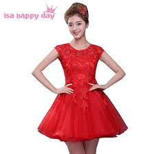 aliexpress com buy vintage short red teens party tulle prom
