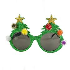 christmas glasses gisela graham novelty christmas glitter sunglasses fancy dress