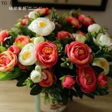 Decorative Flowers For Home by Popular Peony Flower Buy Cheap Peony Flower Lots From China Peony