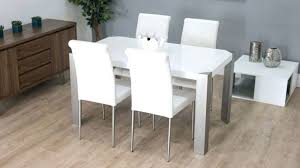 dining room table extendable square and chairs black in the