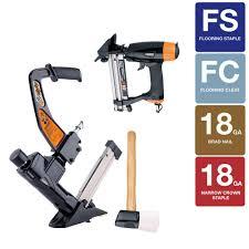 Engineered Flooring Stapler Freeman Professional Flooring Kit With 3 In 1 Flooring Nailer