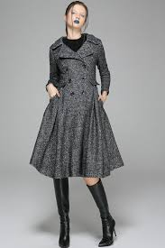 fit and flare coat swing coat double breasted coat dress