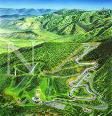 Ski Utah Map by Utah Olympic Park James Niehues Map Artist Ski Maps