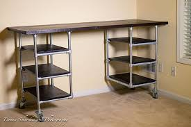 pipe desk with shelves industrial pipe desk shelving plans simplified building